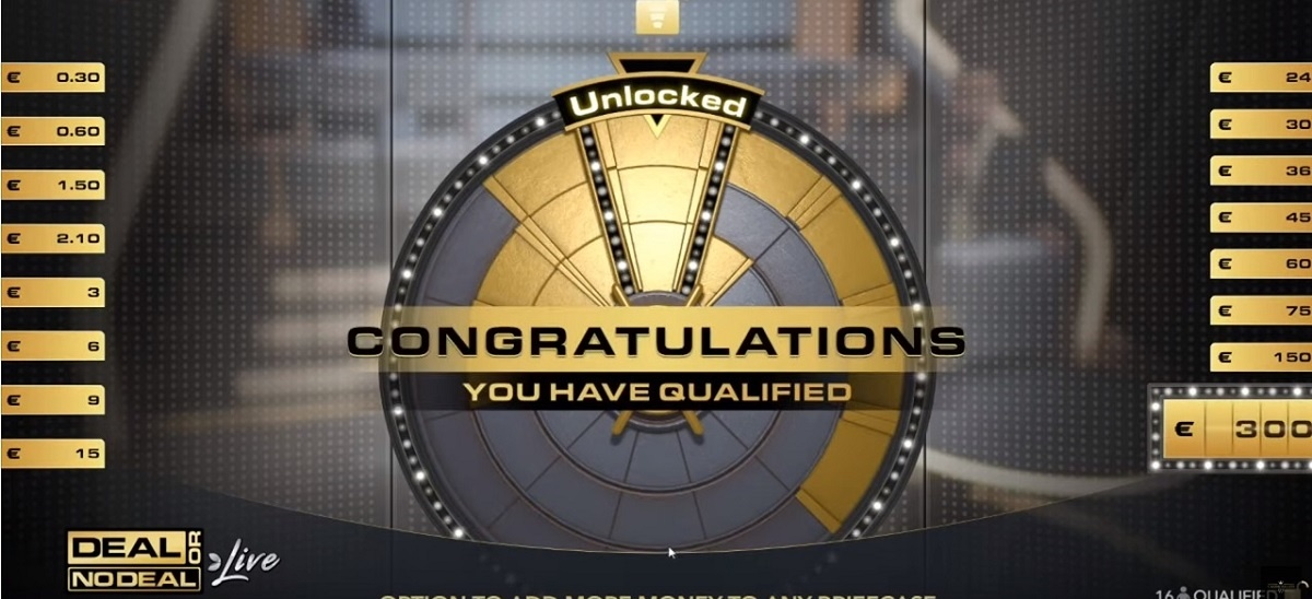 Deal or no deal qualification