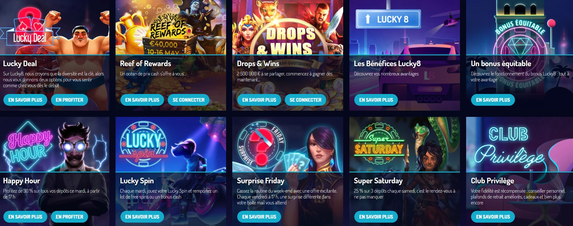 lucky8 promotions